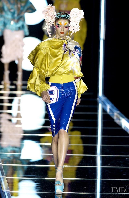 Nadejda Savcova featured in  the Christian Dior fashion show for Autumn/Winter 2003