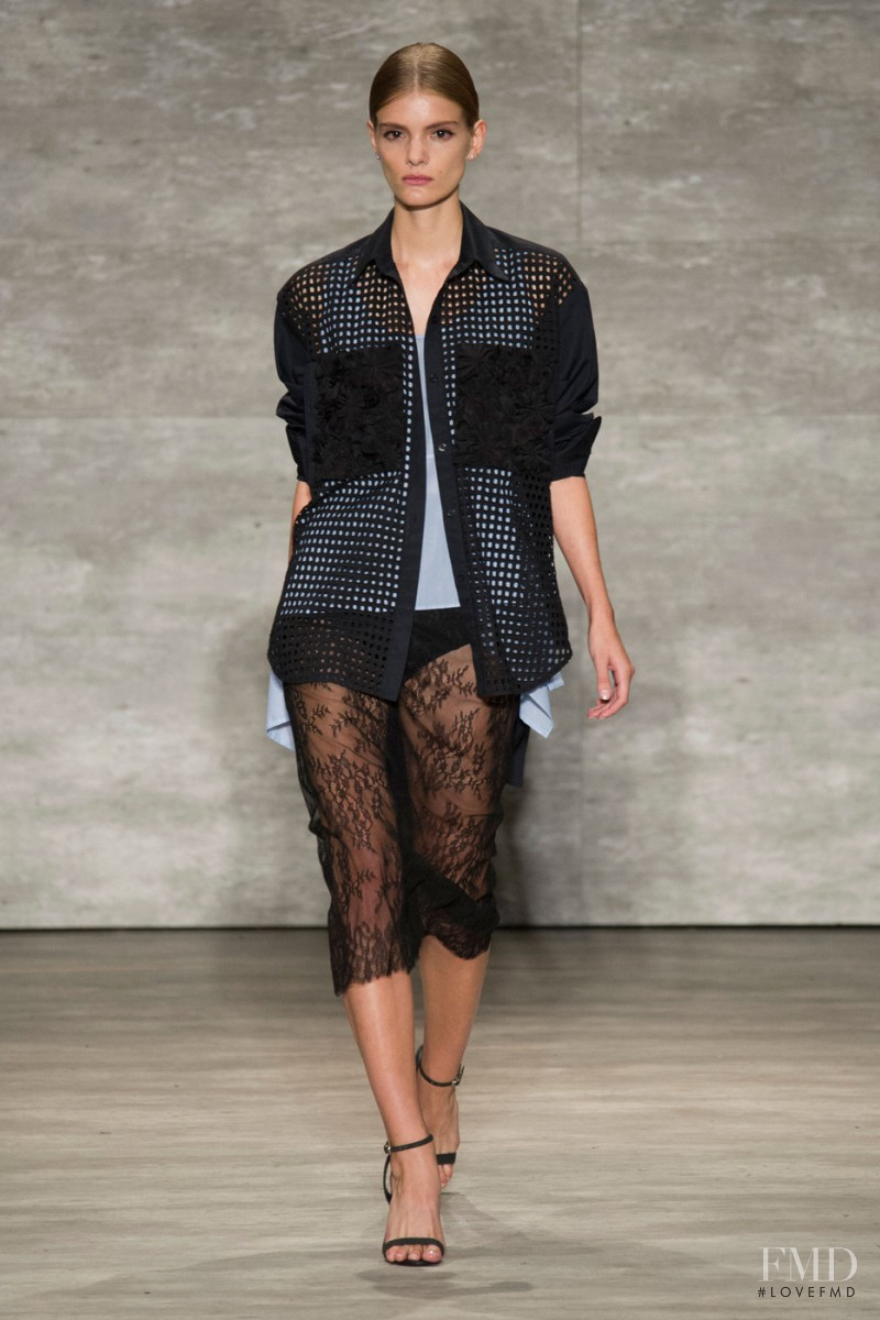 Emily Astrup featured in  the Tome fashion show for Spring/Summer 2015