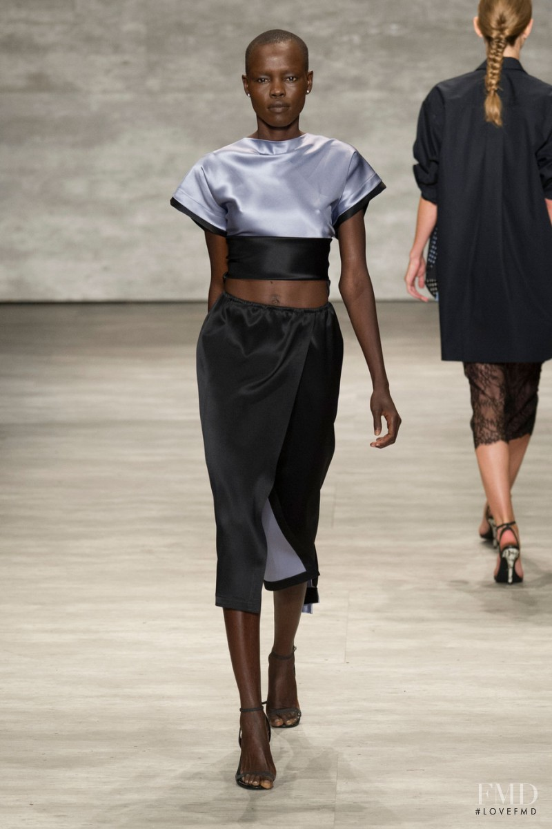 Grace Bol featured in  the Tome fashion show for Spring/Summer 2015