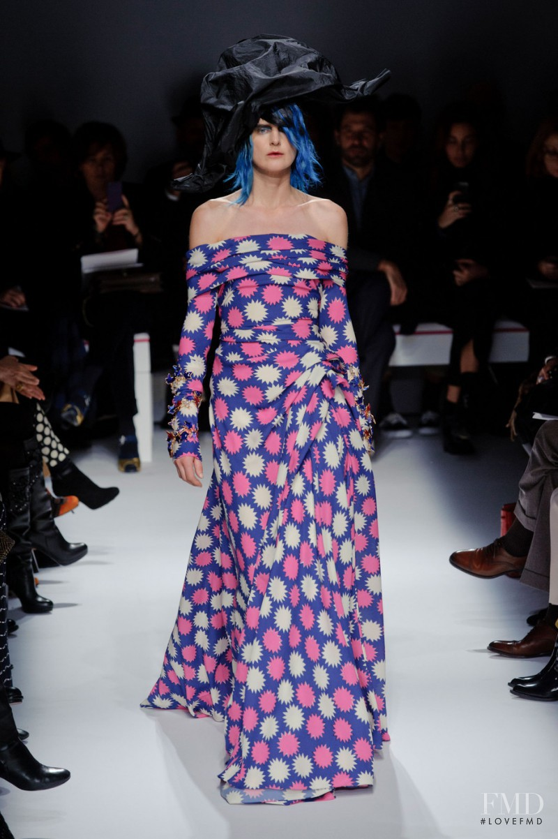 Stella Tennant featured in  the Schiaparelli fashion show for Spring/Summer 2015