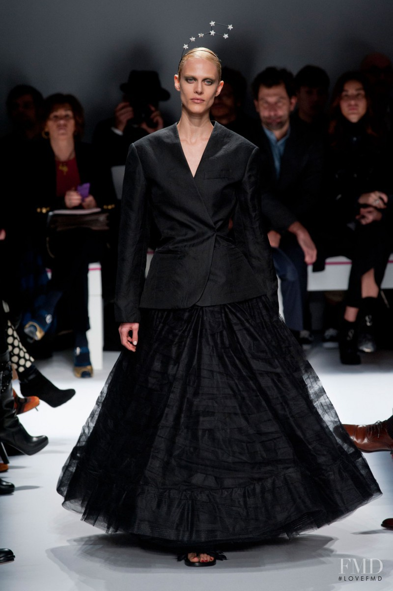 Aymeline Valade featured in  the Schiaparelli fashion show for Spring/Summer 2015