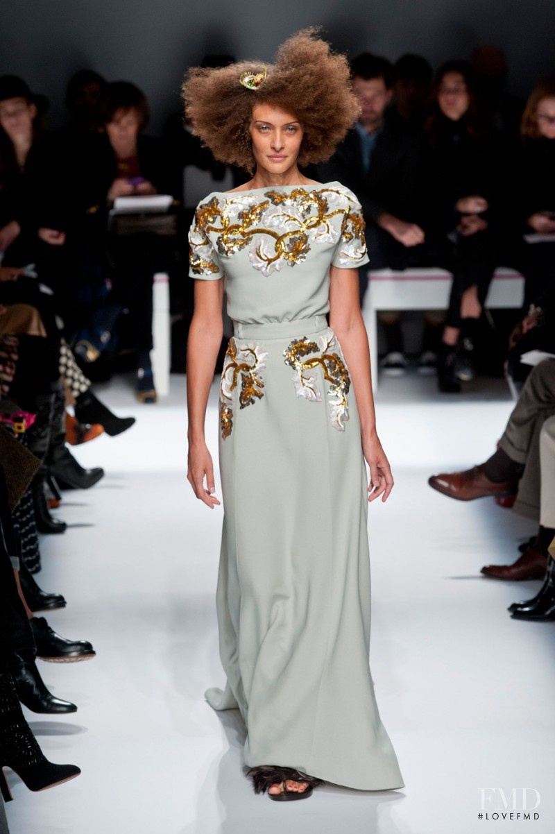 Chrystèle Saint Louis Augustin featured in  the Schiaparelli fashion show for Spring/Summer 2015