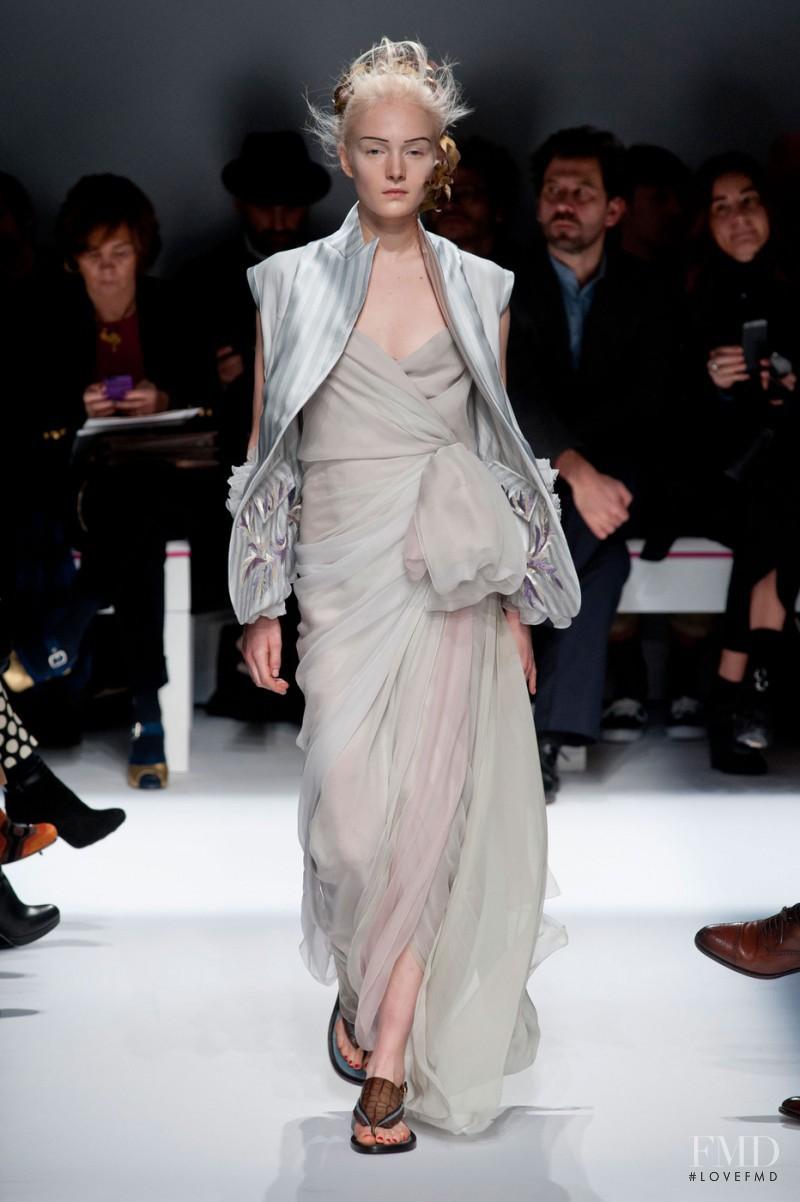 Maja Salamon featured in  the Schiaparelli fashion show for Spring/Summer 2015