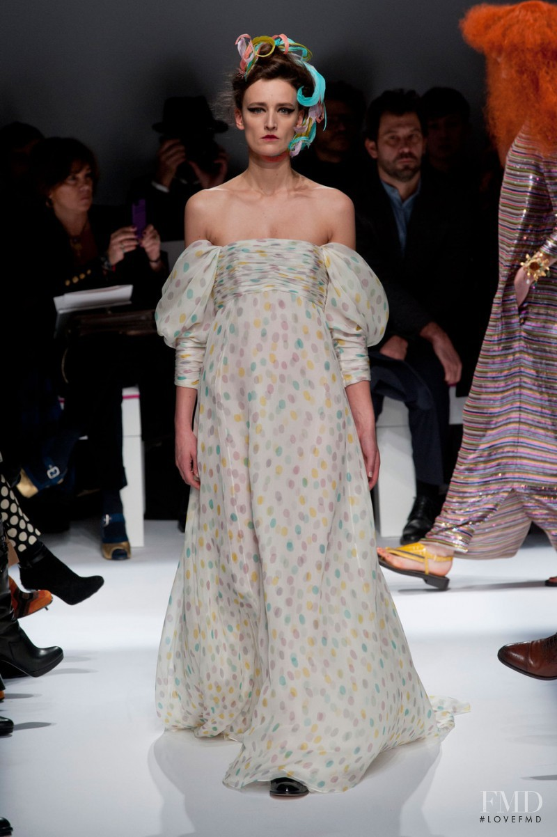 Ann-Catherine Lacroix featured in  the Schiaparelli fashion show for Spring/Summer 2015