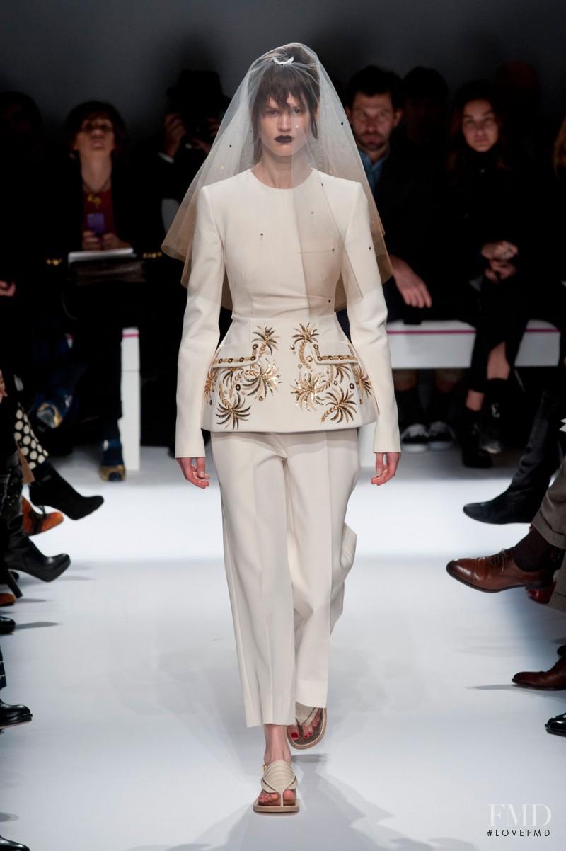 Saskia de Brauw featured in  the Schiaparelli fashion show for Spring/Summer 2015
