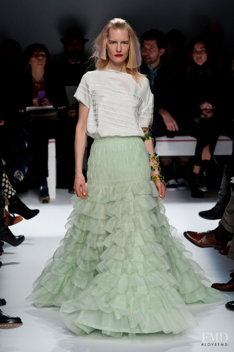 Kirsten Owen featured in  the Schiaparelli fashion show for Spring/Summer 2015