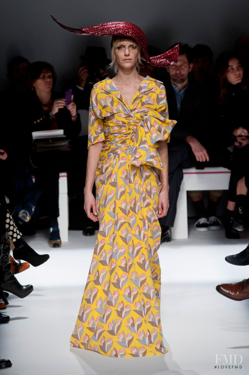 Hannelore Knuts featured in  the Schiaparelli fashion show for Spring/Summer 2015