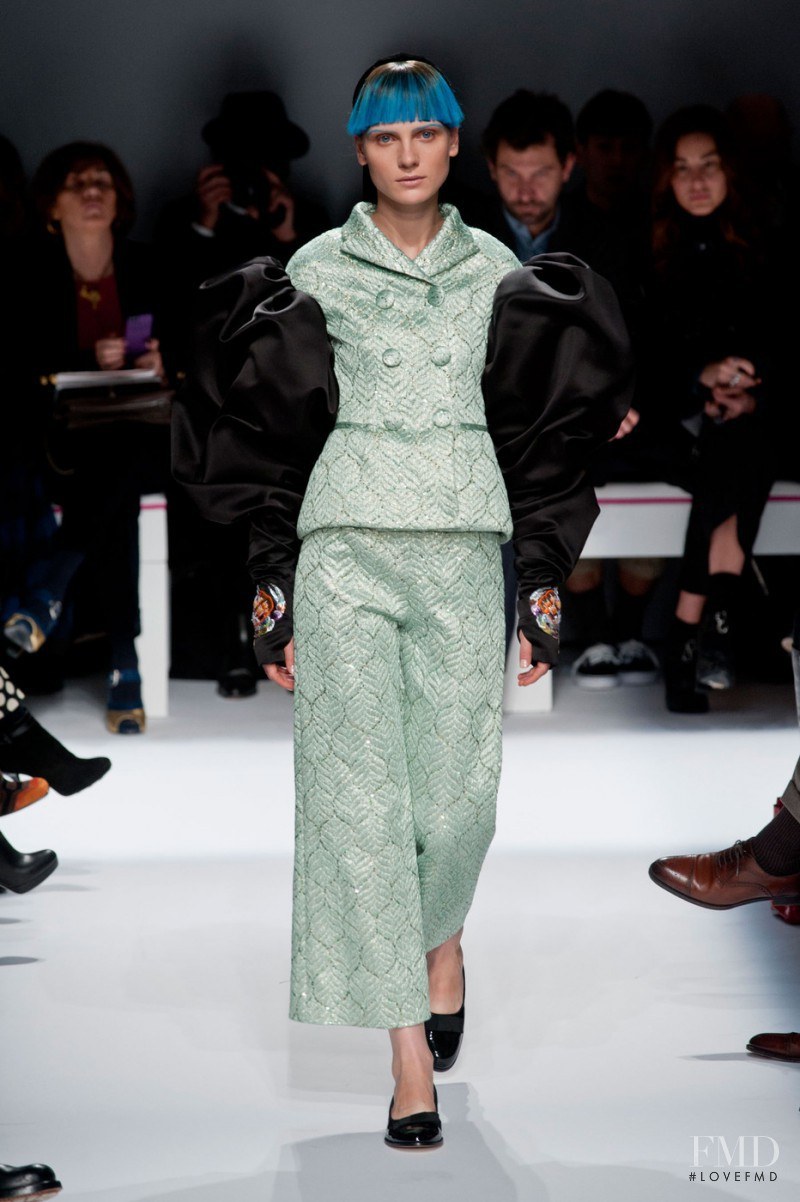 Maria Loks featured in  the Schiaparelli fashion show for Spring/Summer 2015