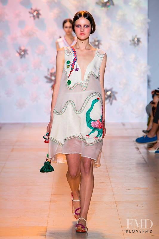 Luba Hryniv featured in  the Tsumori Chisato fashion show for Spring/Summer 2015