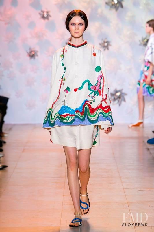 Zella Christenson featured in  the Tsumori Chisato fashion show for Spring/Summer 2015