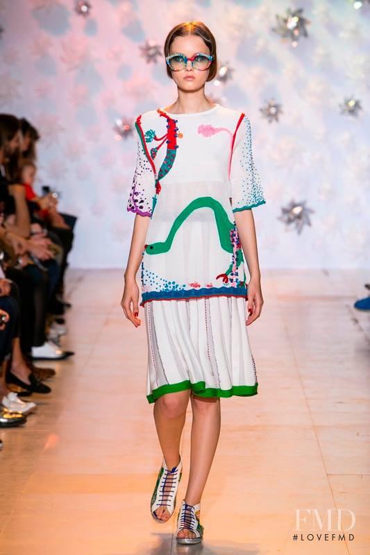 Alessiya Merzlova featured in  the Tsumori Chisato fashion show for Spring/Summer 2015