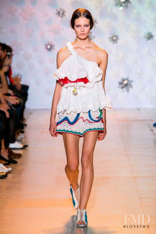 Alicja Tubilewicz featured in  the Tsumori Chisato fashion show for Spring/Summer 2015