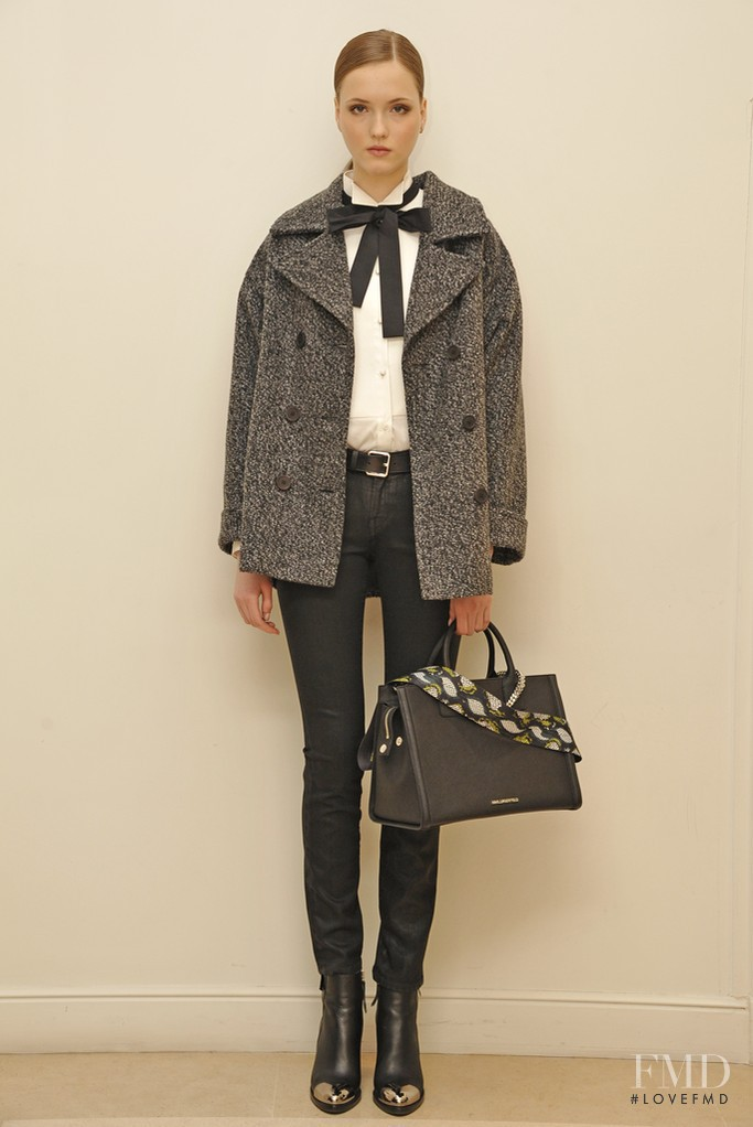 Jane Grybennikova featured in  the Karl Lagerfeld fashion show for Autumn/Winter 2014