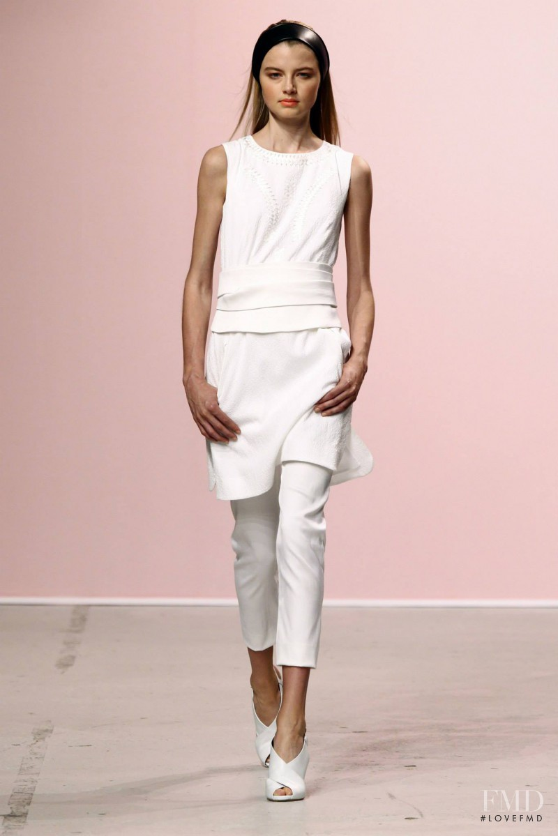 Georgie Perkins featured in  the Pascal Millet fashion show for Spring/Summer 2015