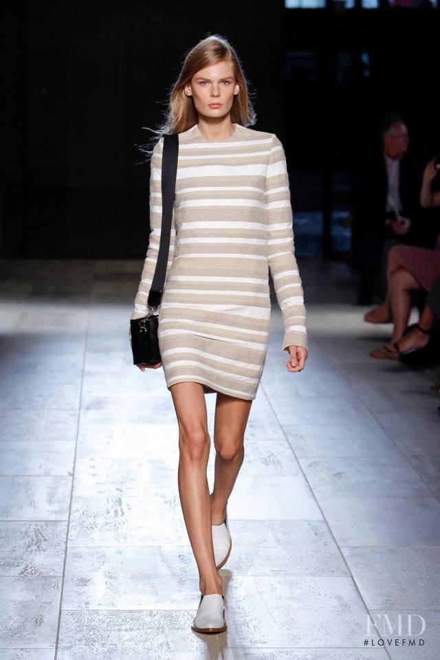 Alexandra Elizabeth Ljadov featured in  the Victoria Beckham fashion show for Spring/Summer 2015