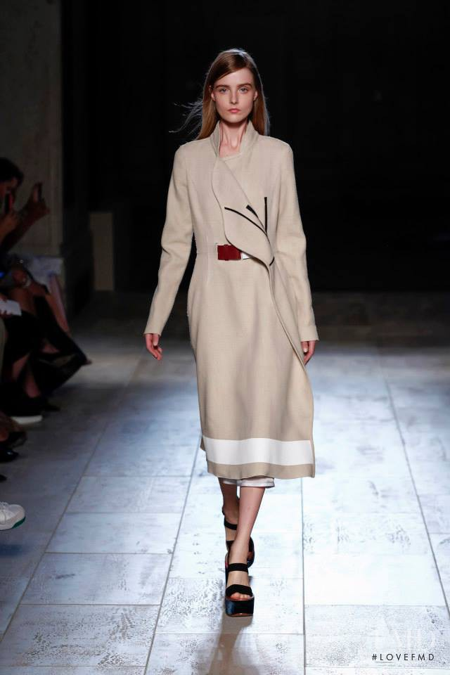 Morta Kontrimaite featured in  the Victoria Beckham fashion show for Spring/Summer 2015