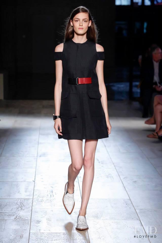 Kremi Otashliyska featured in  the Victoria Beckham fashion show for Spring/Summer 2015