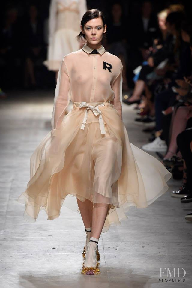 Kinga Rajzak featured in  the Rochas fashion show for Spring/Summer 2015