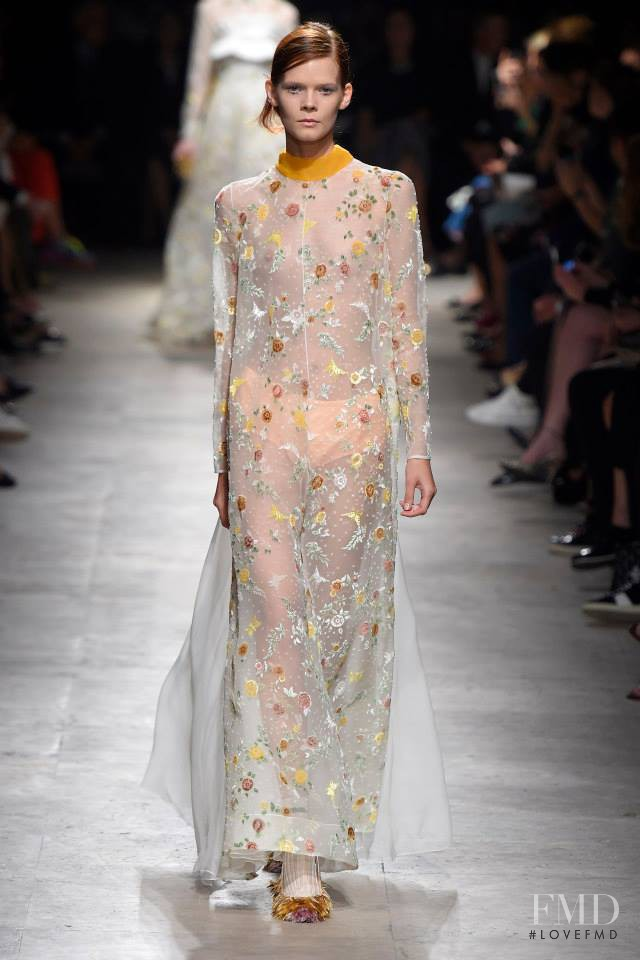 Irina Kravchenko featured in  the Rochas fashion show for Spring/Summer 2015