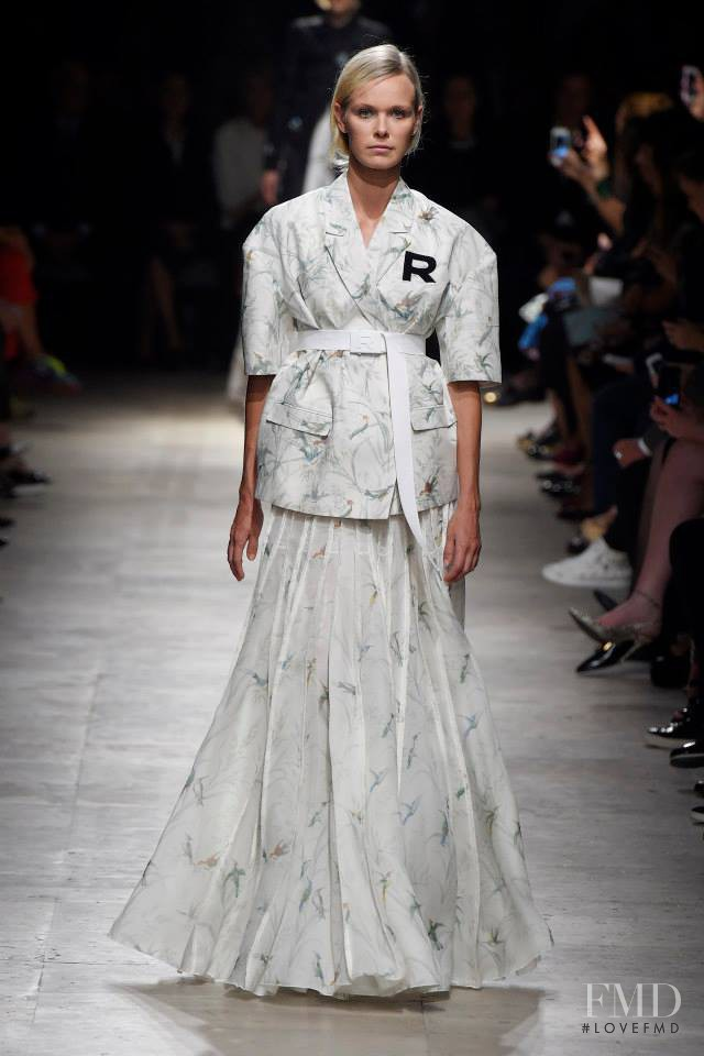 Dewi Driegen featured in  the Rochas fashion show for Spring/Summer 2015