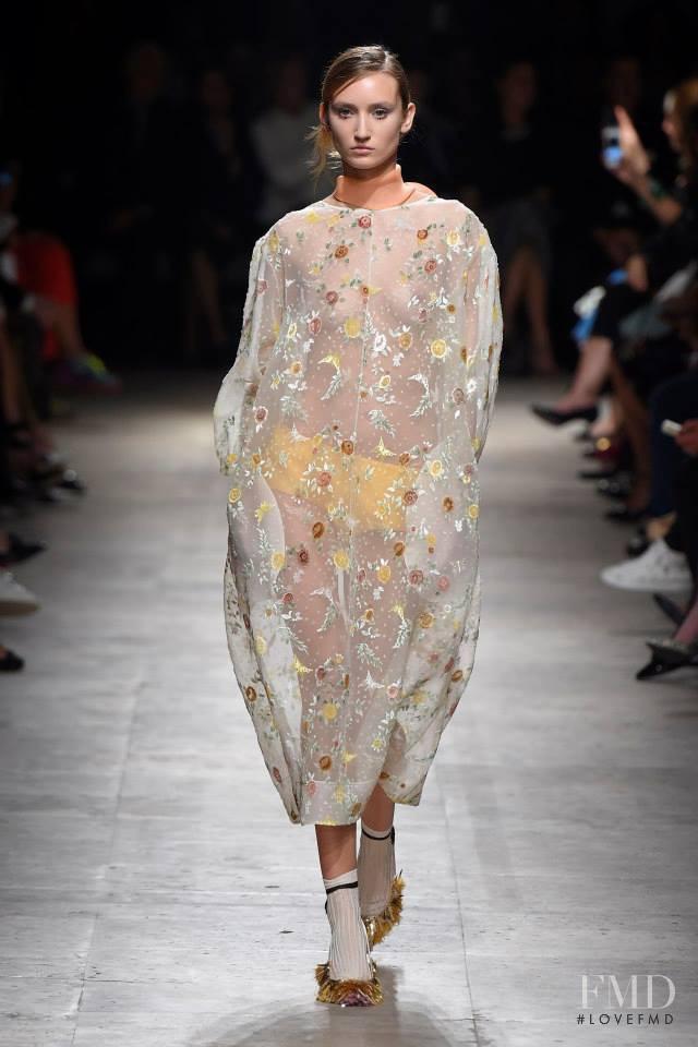 Alex Yuryeva featured in  the Rochas fashion show for Spring/Summer 2015