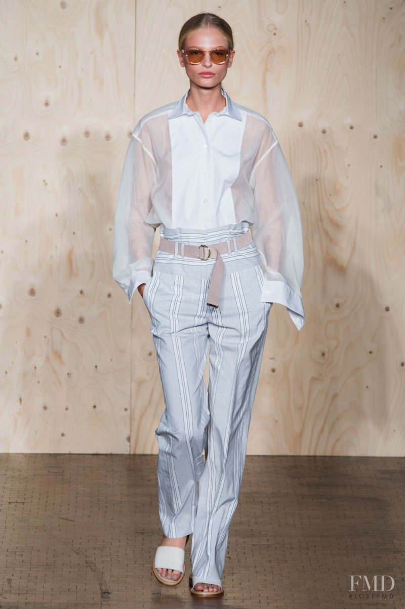 Frederikke Sofie Falbe-Hansen featured in  the Paul Smith fashion show for Spring/Summer 2015