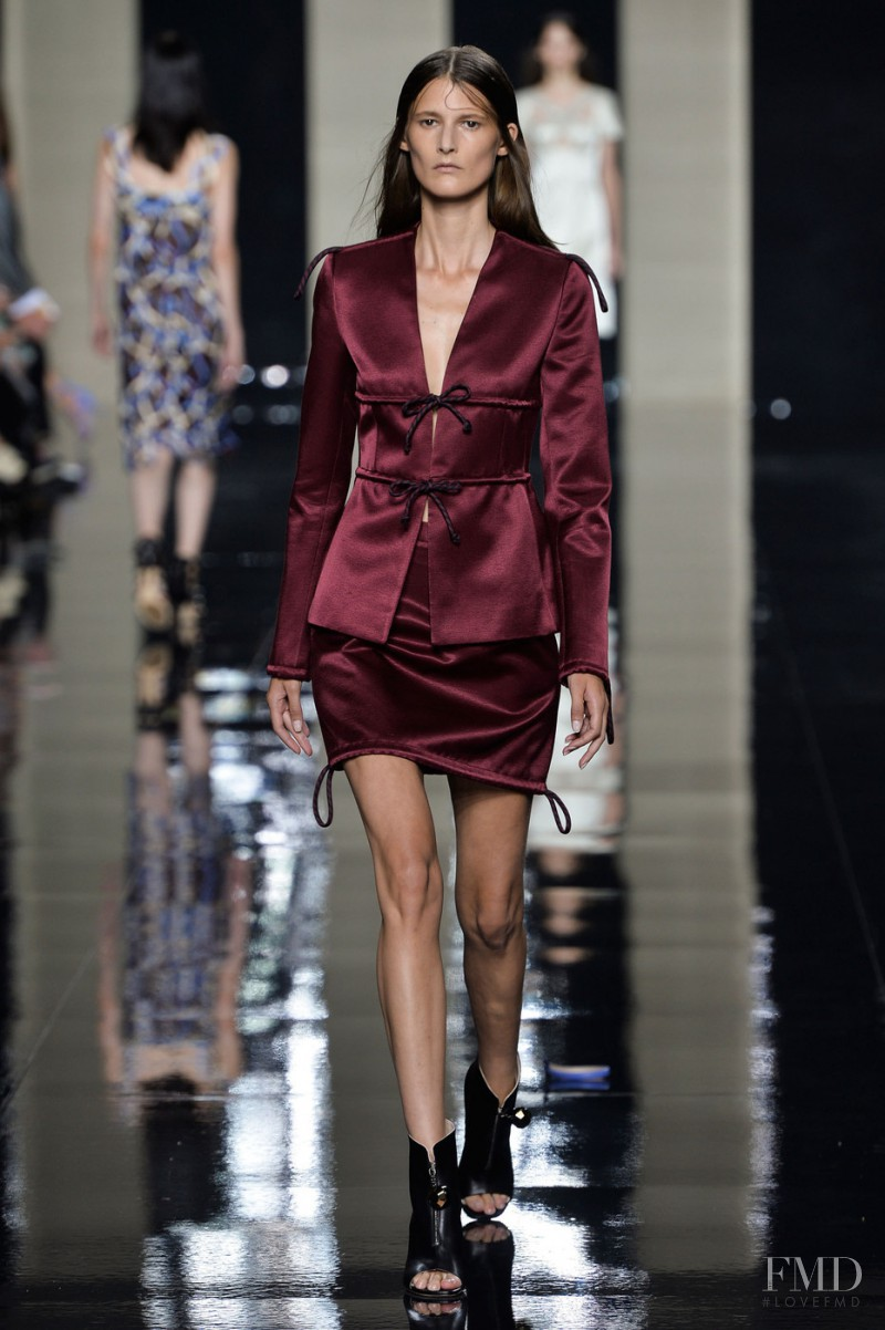 Marie Piovesan featured in  the Christopher Kane fashion show for Spring/Summer 2015