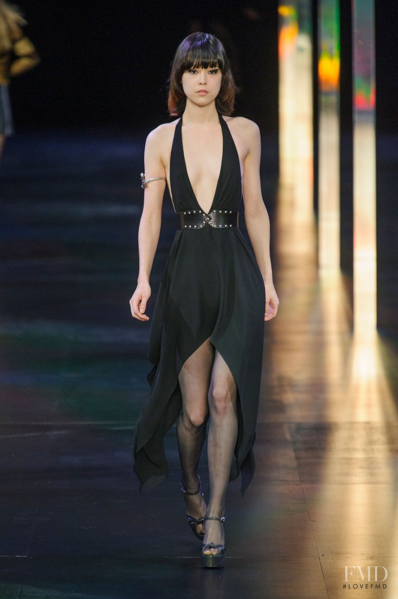 Mae Lapres featured in  the Saint Laurent fashion show for Spring/Summer 2015