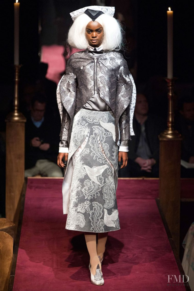 Adau Mornyang featured in  the Thom Browne fashion show for Autumn/Winter 2014