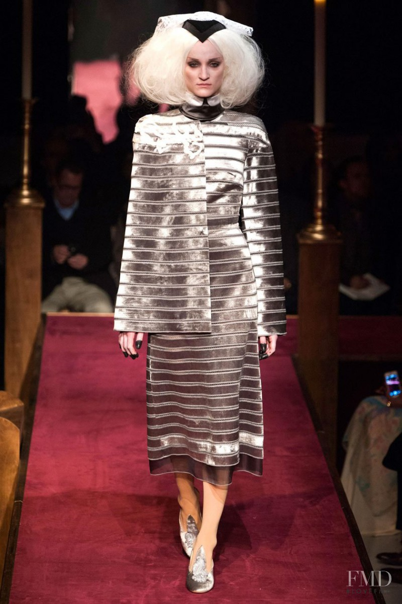 Marina Heiden featured in  the Thom Browne fashion show for Autumn/Winter 2014
