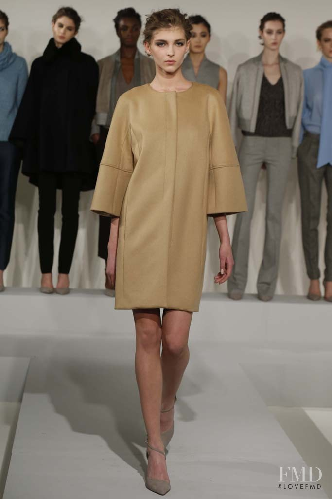 Anastasia Lagune featured in  the Nellie Partow fashion show for Autumn/Winter 2014