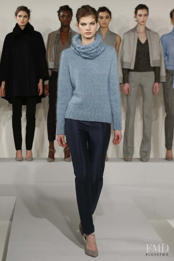 Kisa Cheban featured in  the Nellie Partow fashion show for Autumn/Winter 2014