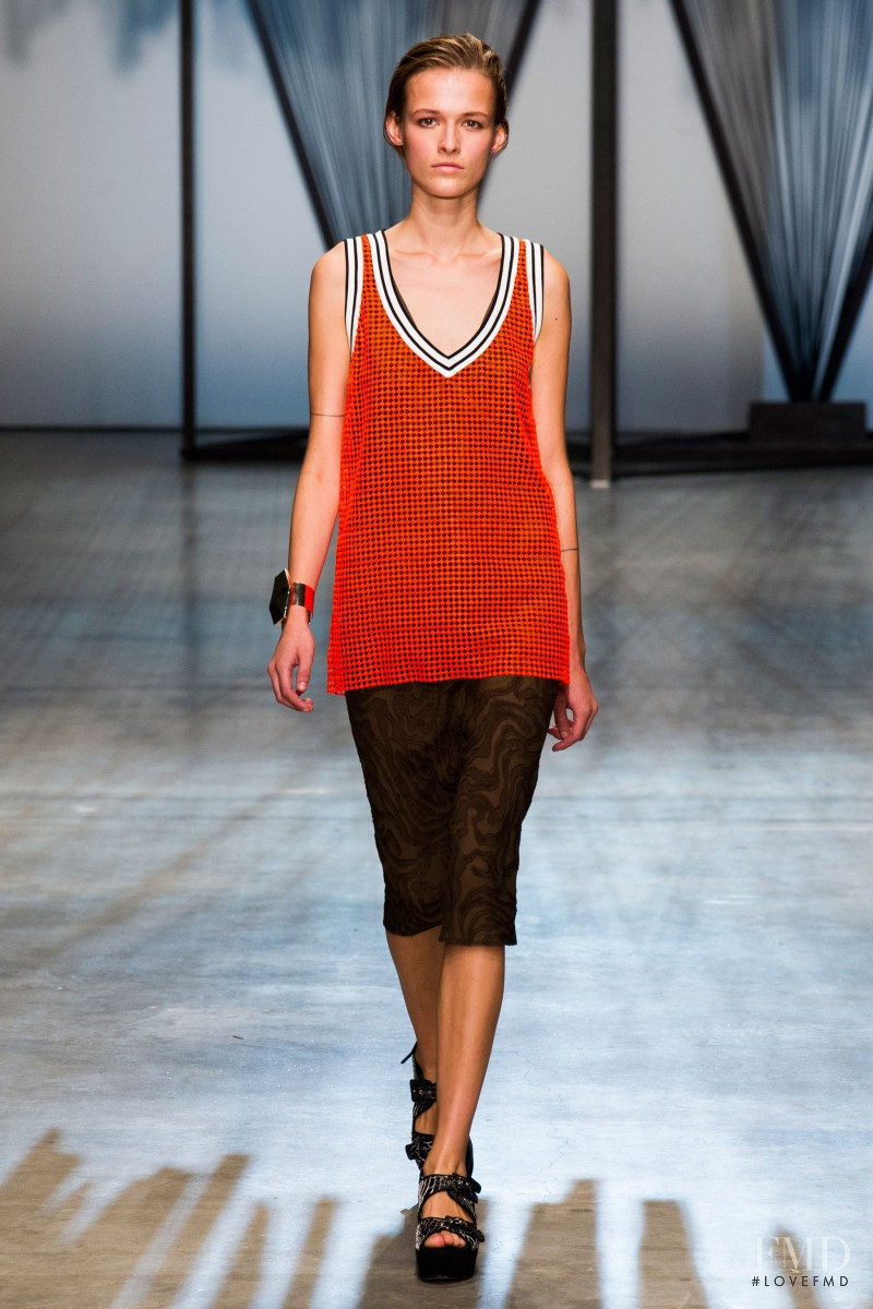 Emma  Oak featured in  the Damir Doma fashion show for Spring/Summer 2015