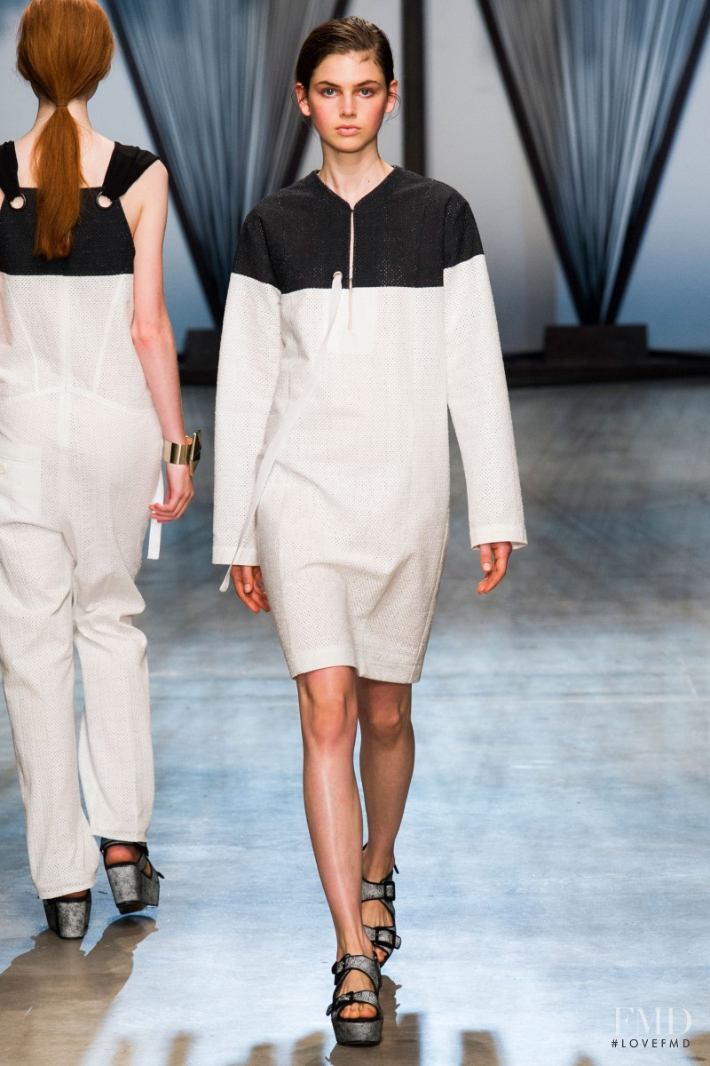 Irma Spies featured in  the Damir Doma fashion show for Spring/Summer 2015