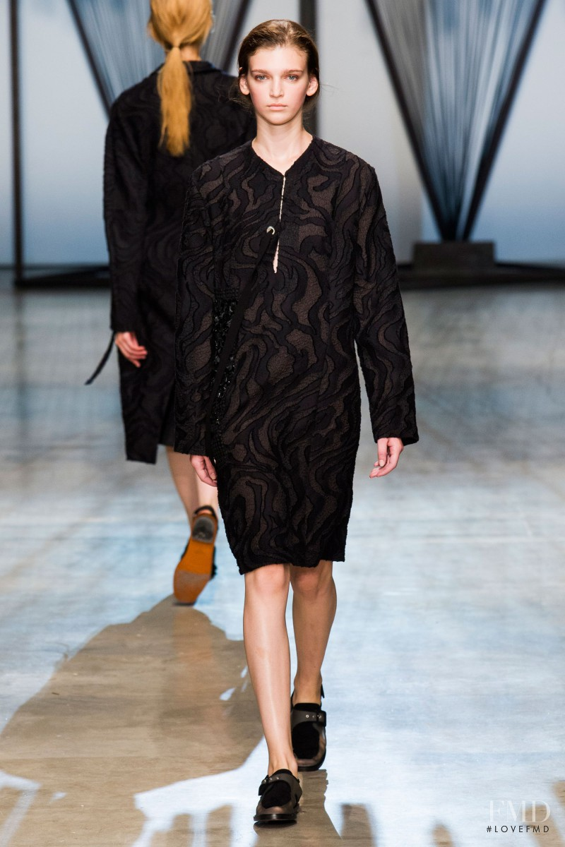 Anka Kuryndina featured in  the Damir Doma fashion show for Spring/Summer 2015