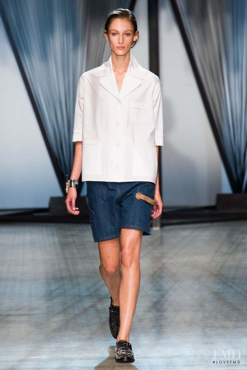 Franzi Mueller featured in  the Damir Doma fashion show for Spring/Summer 2015