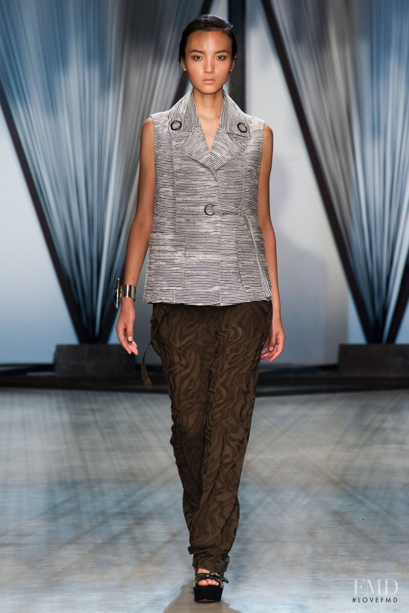 Luping Wang featured in  the Damir Doma fashion show for Spring/Summer 2015