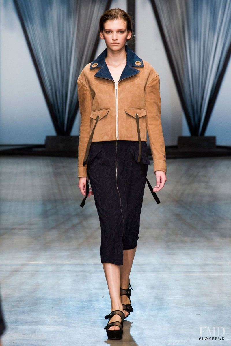 Anka Kuryndina featured in  the Damir Doma fashion show for Spring/Summer 2015