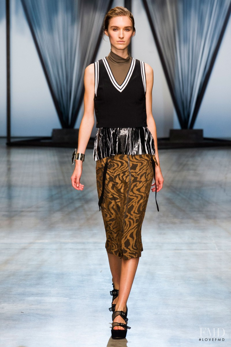 Manuela Frey featured in  the Damir Doma fashion show for Spring/Summer 2015