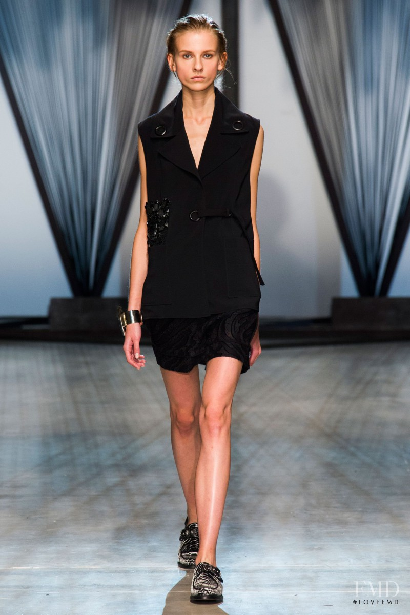 Ola Munik featured in  the Damir Doma fashion show for Spring/Summer 2015