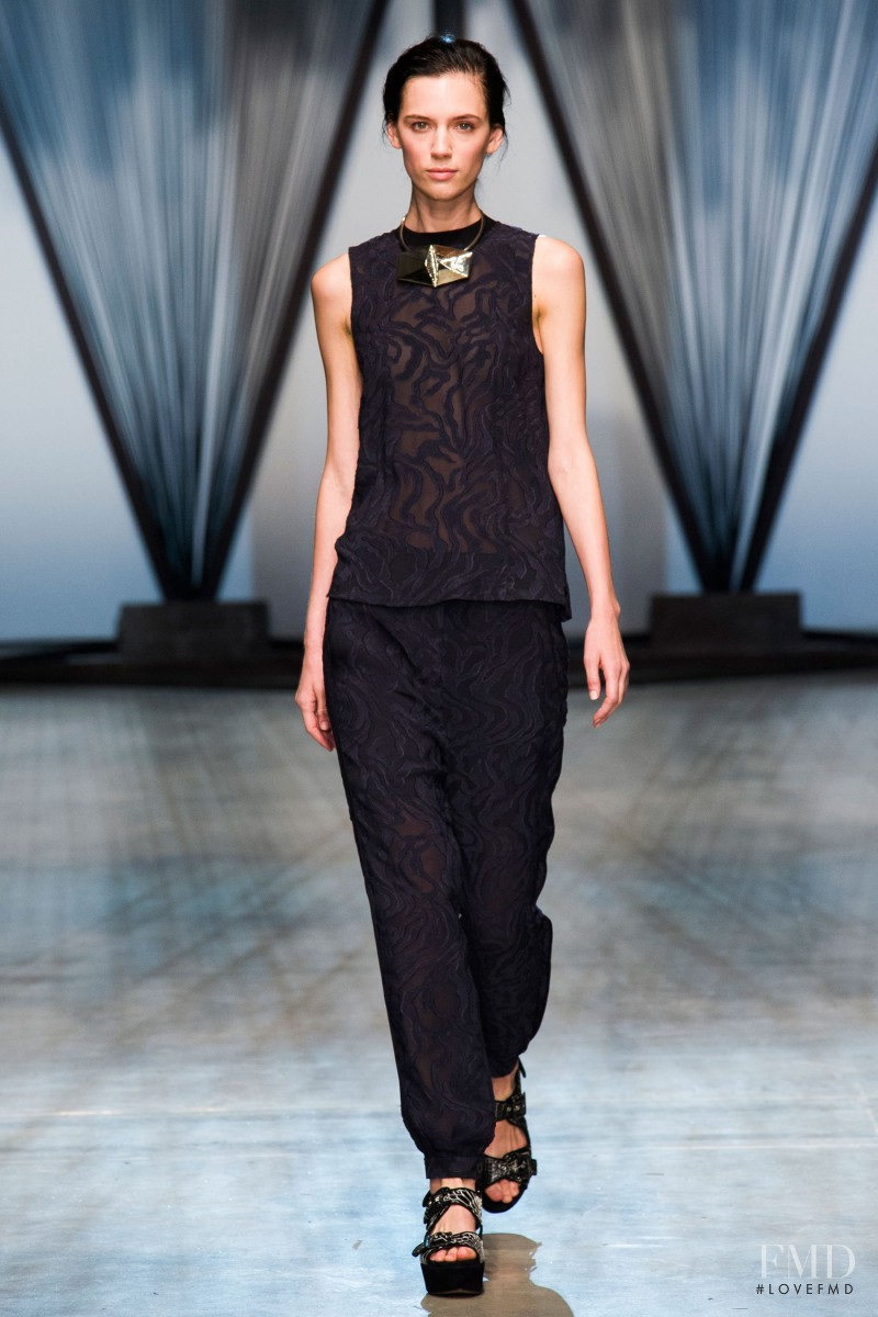 Sarah Stewart featured in  the Damir Doma fashion show for Spring/Summer 2015