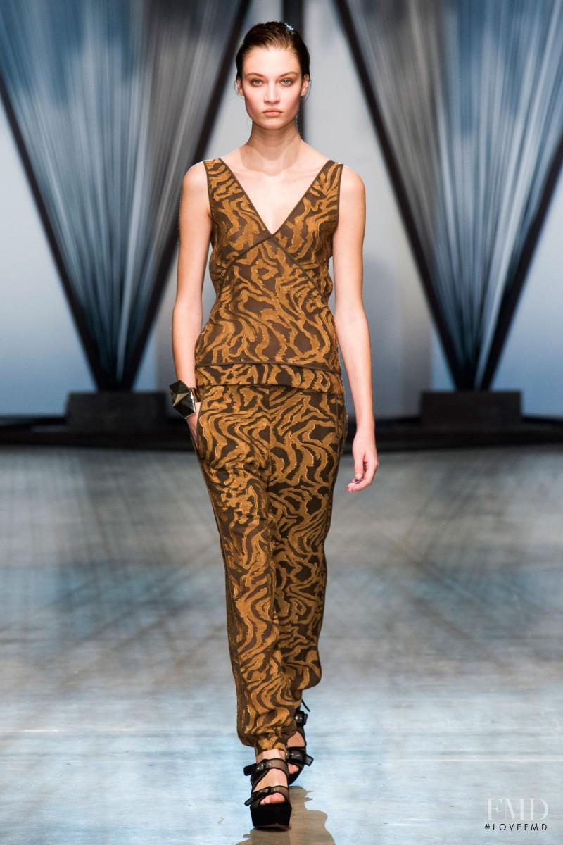 Lieke van Houten featured in  the Damir Doma fashion show for Spring/Summer 2015