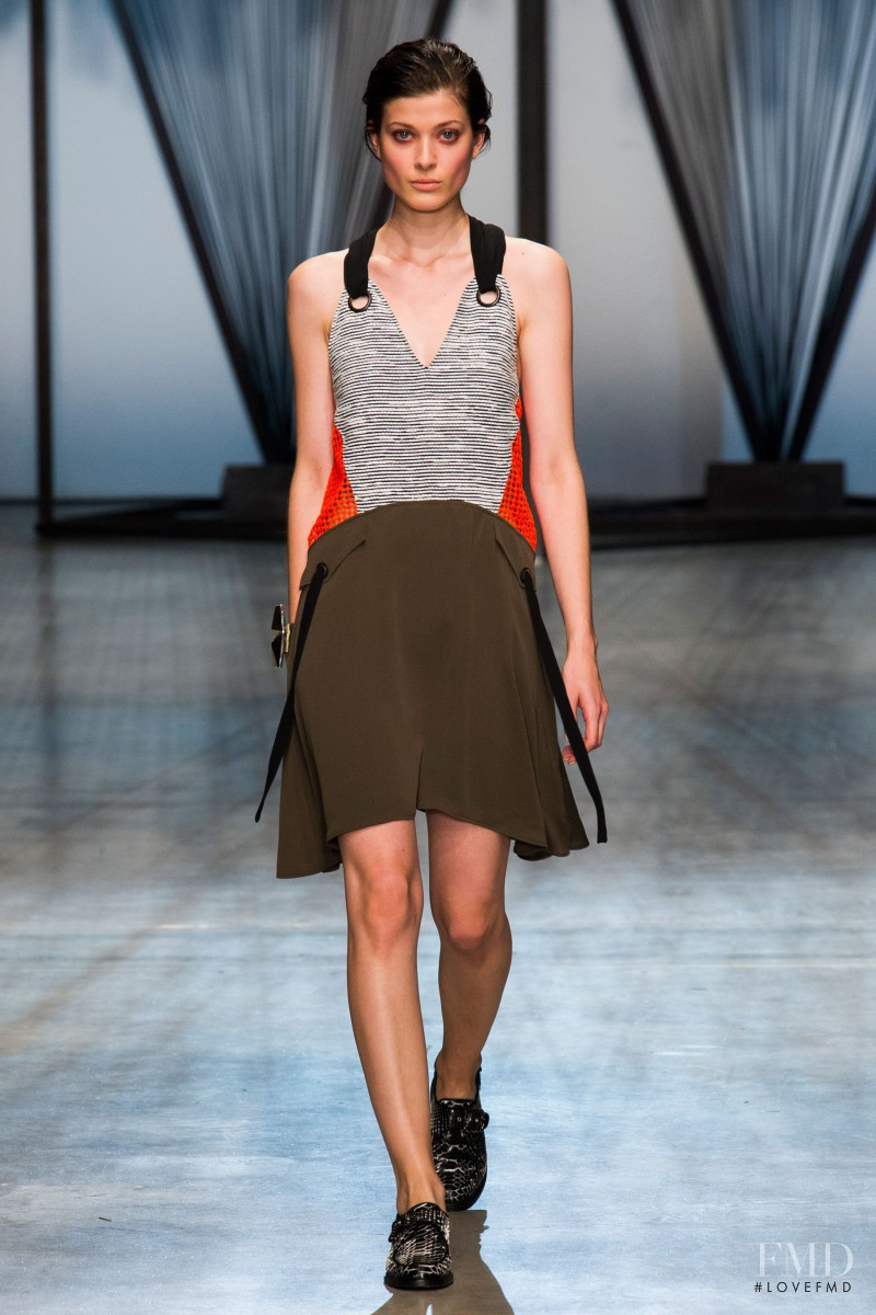 Larissa Hofmann featured in  the Damir Doma fashion show for Spring/Summer 2015
