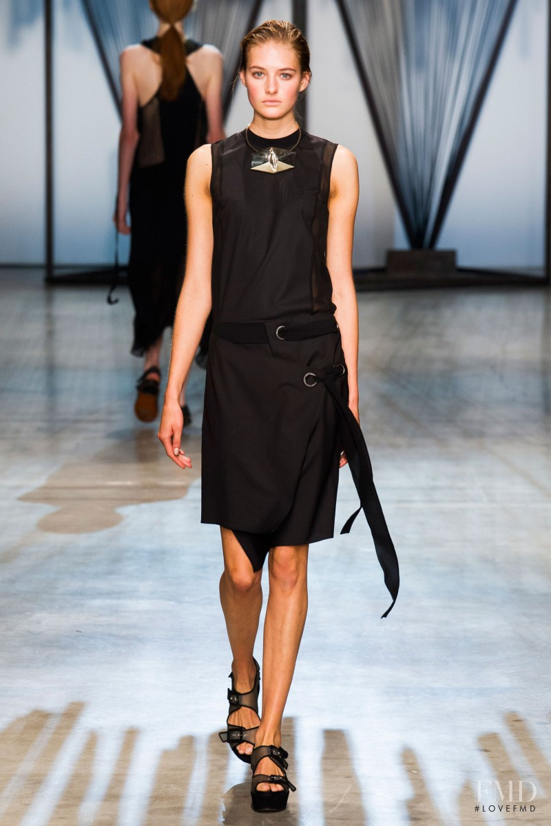 Sanne Vloet featured in  the Damir Doma fashion show for Spring/Summer 2015