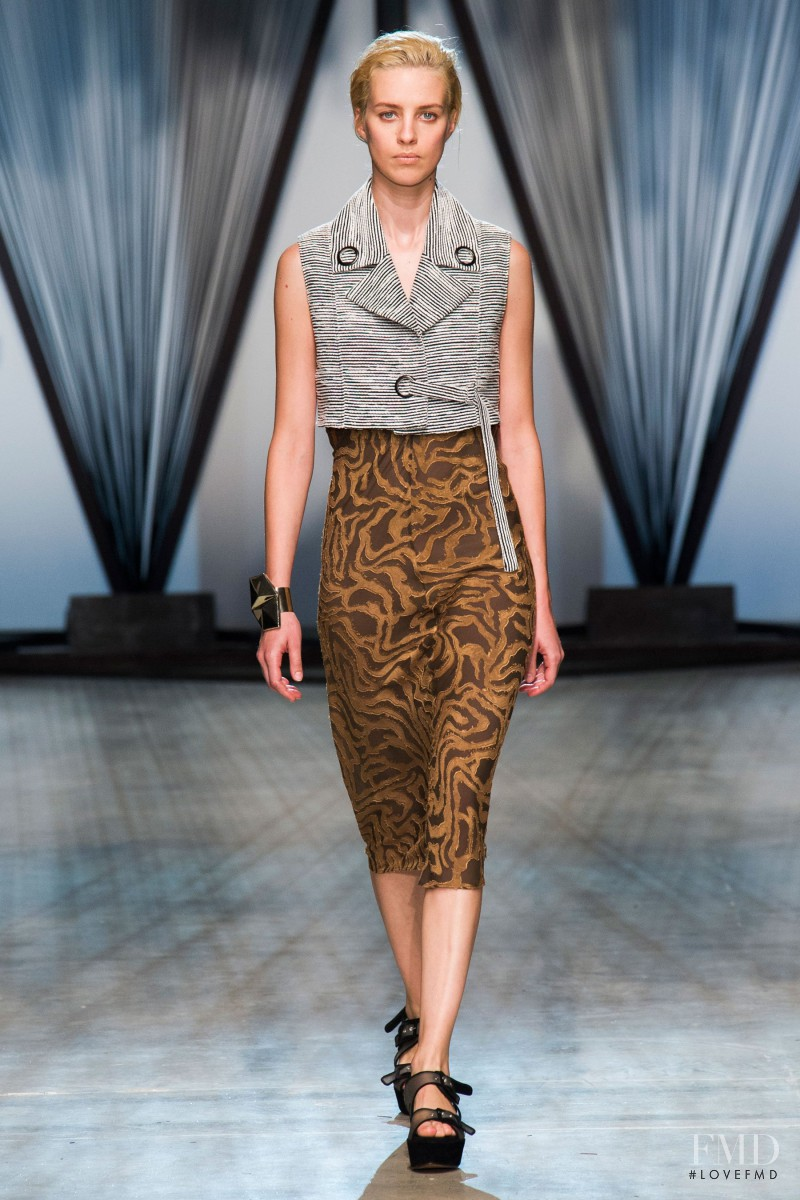 Julia Frauche featured in  the Damir Doma fashion show for Spring/Summer 2015