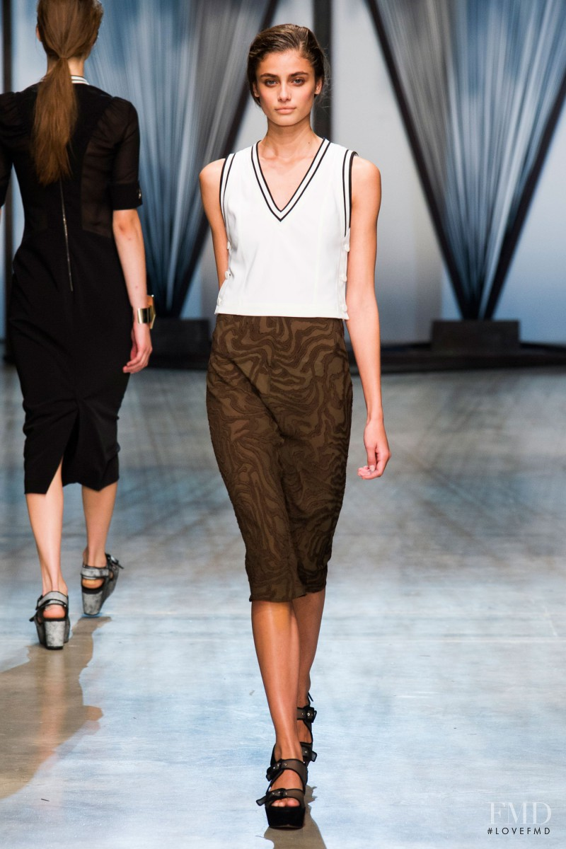 Taylor Hill featured in  the Damir Doma fashion show for Spring/Summer 2015