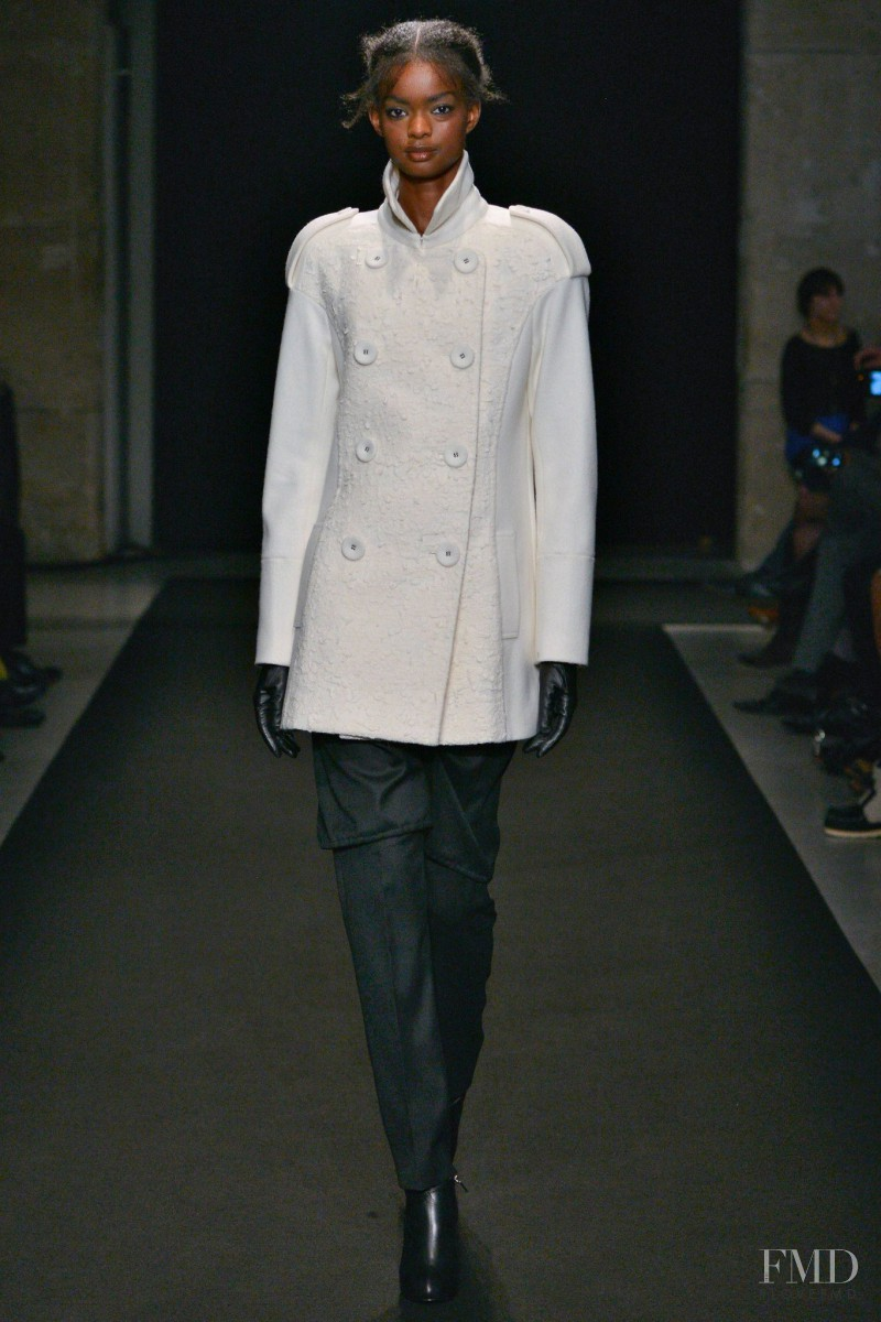 Adau Mornyang featured in  the Atsuro Tayama fashion show for Autumn/Winter 2014