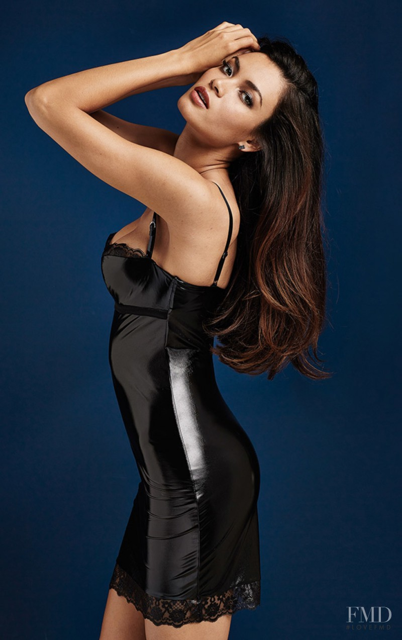 Angela Ruiz featured in  the Intimissimi catalogue for Autumn/Winter 2014