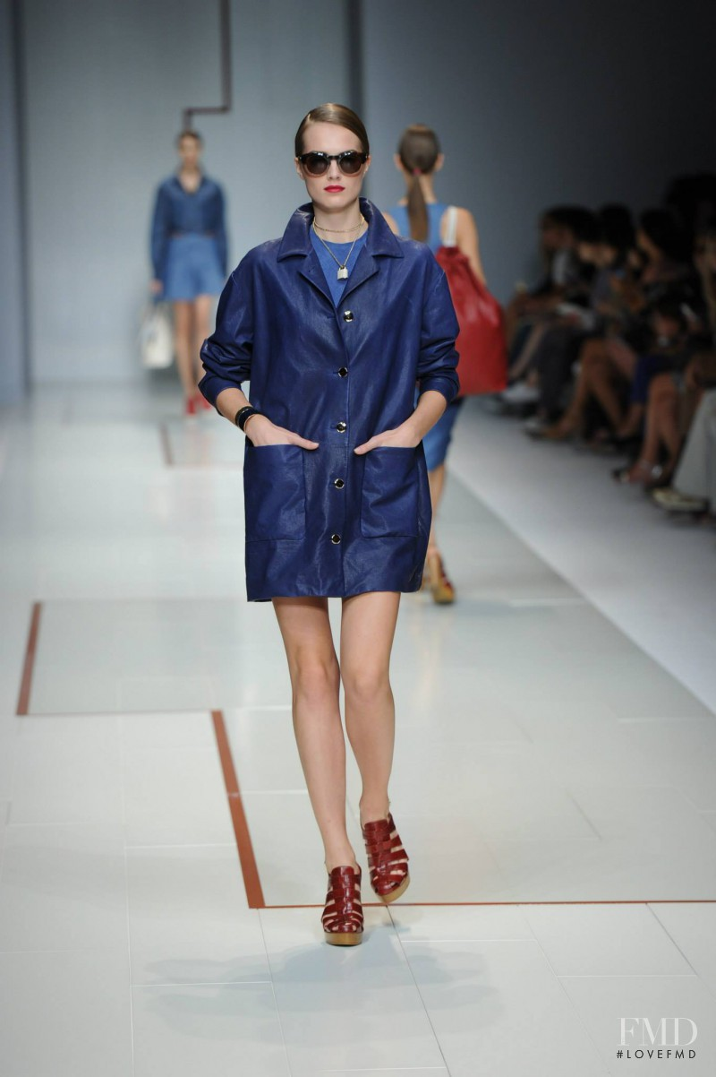 Agne Konciute featured in  the Trussardi fashion show for Spring/Summer 2015