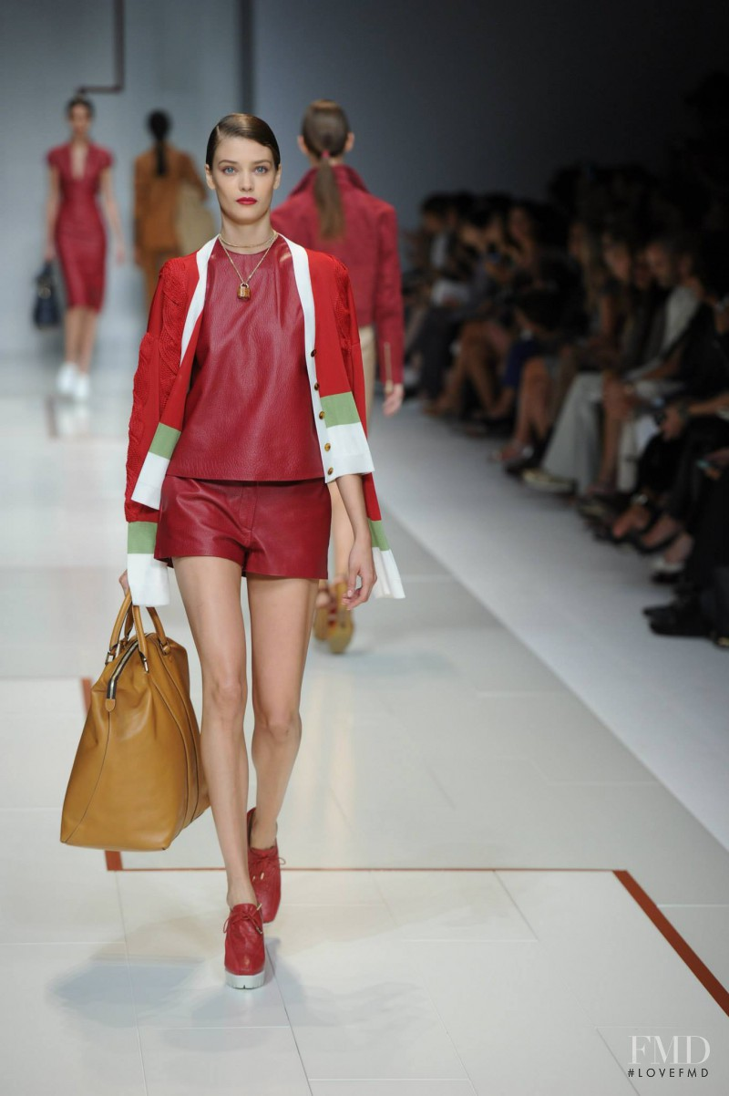 Diana Moldovan featured in  the Trussardi fashion show for Spring/Summer 2015